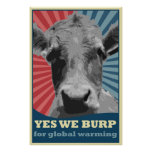 we yes burp for globalmente warming poster
