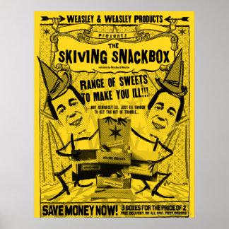 Weasley y productos del weasley póster