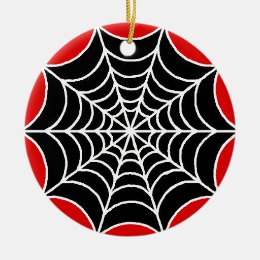 Web de araña ornamento para arbol de navidad