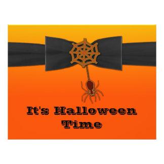 Web de araña anaranjado y negro de Bling Folleto 21,6 X 28 Cm