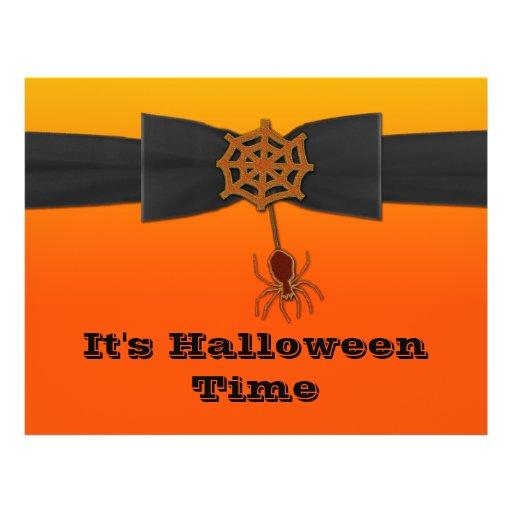 Web de araña anaranjado y negro de Bling Tarjeta Publicitaria