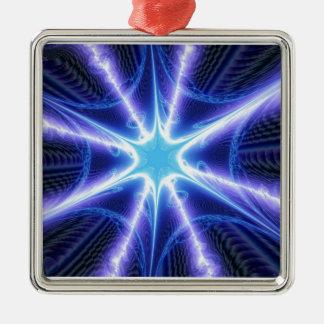 Web de araña azul eléctrico de Techno Ornamento Para Arbol De Navidad