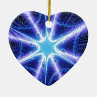Web de araña azul eléctrico de Techno Adorno De Cerámica En Forma De Corazón