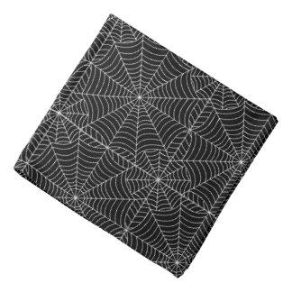 Web de araña de Halloween en negro Bandana
