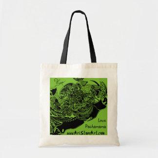 Web de araña y bolso de ultramarinos reutilizable bolsa tela barata