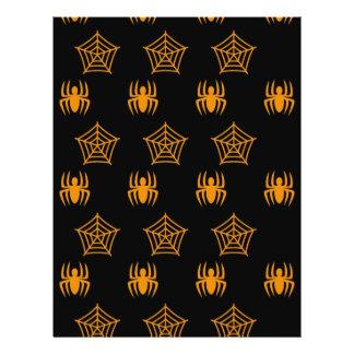 Web de arañas inmóviles para Halloween Folleto 21,6 X 28 Cm