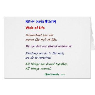 Web de la vida: Sabiduría del nativo americano Tarjetas
