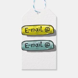Web del botón del bosquejo del correo electrónico etiquetas para regalos
