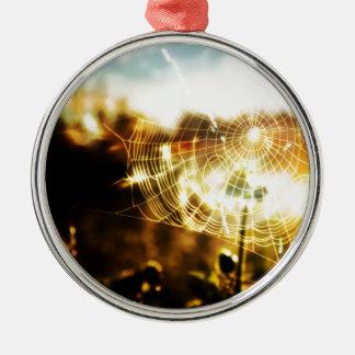 Web frescos abstractos del trigo del fuego adornos de navidad