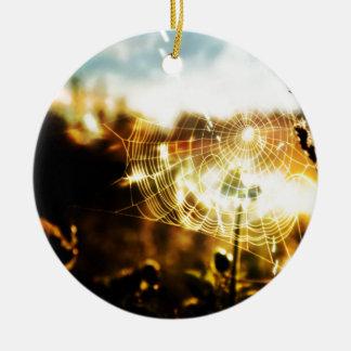 Web frescos abstractos del trigo del fuego adorno de navidad