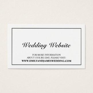 Web site blanco y negro elegante del boda tarjeta de negocios