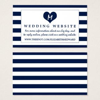 Web site elegante moderno del boda de los azules tarjeta de visita