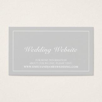 Web site gris y blanco elegante del boda tarjeta de negocios