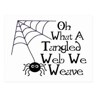Web spider enredado postal