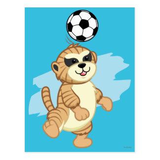 Webkinz el | Meerkat que juega al fútbol 2 Postal