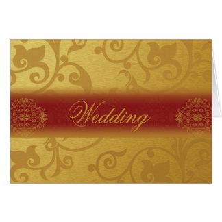 Wedding Invitation Card Folded Indian style Tarjeta Pequeña