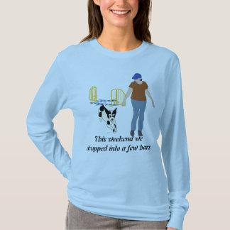 Weekend la caída en barras camiseta