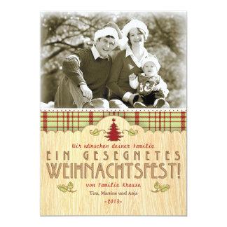 Weihnachten Foto-Karte Grußkarte Invitación 12,7 X 17,8 Cm