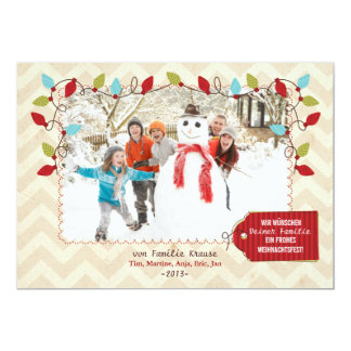 Weihnachten Foto-Karte Invitación 12,7 X 17,8 Cm