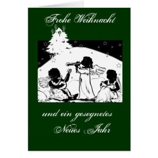 Weihnachts- grusskarte: Ángeles musuzieren Tarjeta