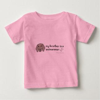 weimaraner camiseta de bebé