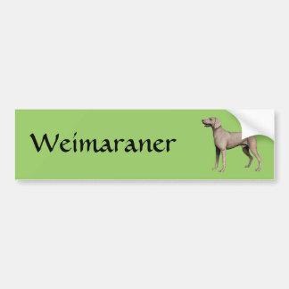 Weimaraner Pegatina De Parachoque