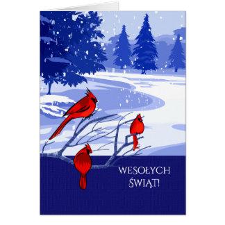 Wesołych Świąt. Tarjetas de Navidad en polaco