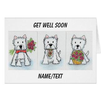 Westie consigue pronto al amigo bien etc. de la ta tarjeta de felicitación