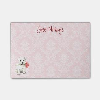 Westie subió tarjeta del día de San Valentín Notas Post-it®