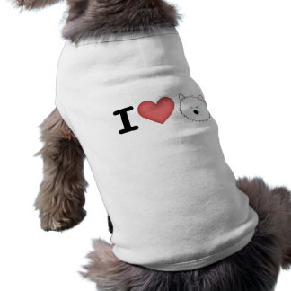 Westies I (del corazón) Camiseta Sin Mangas Para Perro