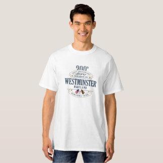 Westminster, Maryland 200o Anniv. Camiseta blanca