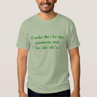 Weuweu del opu del iho i KE del noho de E, ` E. Camisas