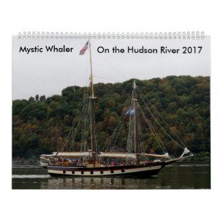 Whaler místico en el río Hudson 2017 Calendarios De Pared