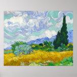 Wheatfield con los cipreses, Vincent van Gogh Posters