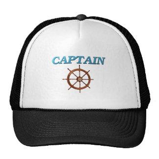 Wheel del capitán y de capitán gorras
