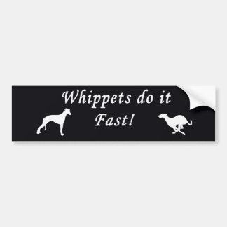 Whippets ayuna pegatina para coche