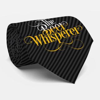 Whisperer de la cerveza corbata personalizada