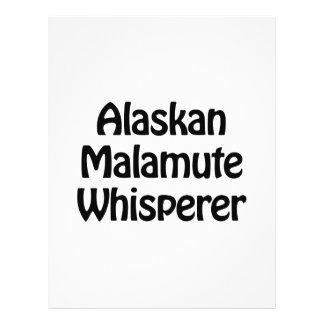 whisperer del malamute de Alaska Folleto 21,6 X 28 Cm