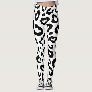 White Leopard Leggings