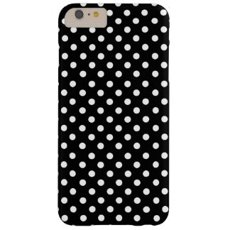 White polka dots in black funda barely there iPhone 6 plus