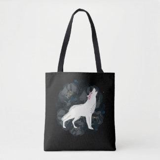 White Wolf con la bolsa de asas negra de los rosas