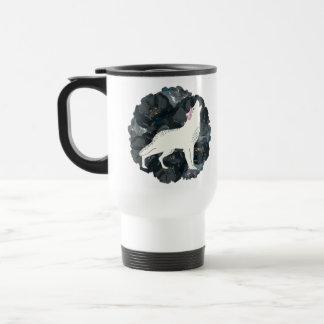 White Wolf con la taza negra de los rosas