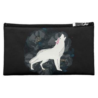 White Wolf en círculo del bolso negro de los rosas