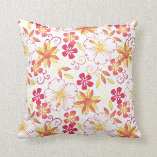 white_yellow vibrante de la almohada de tiro de