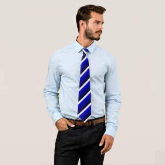 Whitesmoke y sombras del azul rayados, dobles corbatas personalizadas