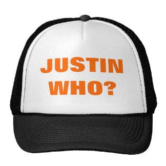 ¿WHO DE JUSTIN? GORROS