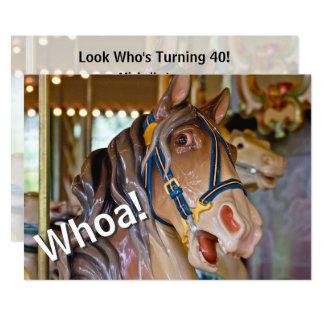 ¡Whoa! Mire quién es caballo de 40 carruseles que Invitación 12,7 X 17,8 Cm