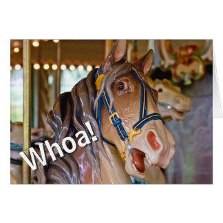 ¡Whoa! Mire quién es cumpleaños del caballo de 70 Tarjeta De Felicitación