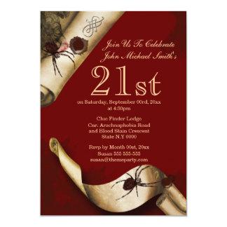 Whodunnit del rojo del misterioso asesinato invitación 12,7 x 17,8 cm