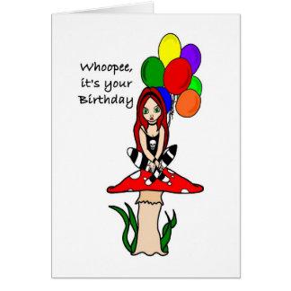 Whoopee, es su Faerie del gótico del cumpleaños Tarjeta De Felicitación